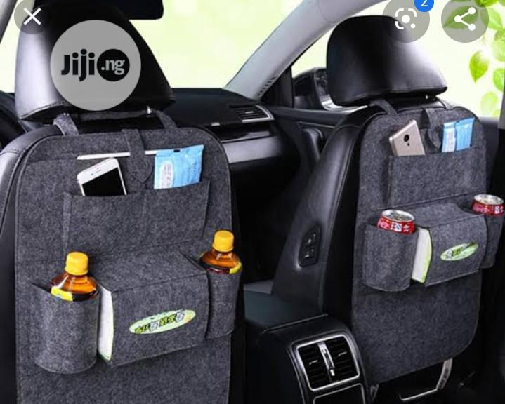 Car Seat Organizer Pockets (Grey PU Fabric) | Vehicle Parts & Accessories for sale in Ikeja, Lagos State, Nigeria
