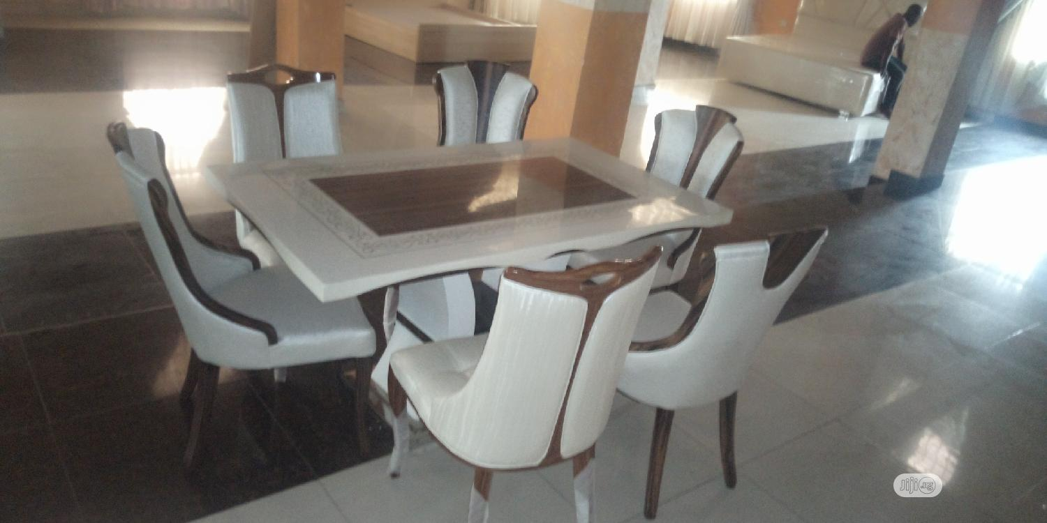 Italian Unique Marble Dining Table With 6 Chairs In Ajah Furniture Stuffzy Furniture Jiji Ng For Sale In Ajah Buy Furniture From Stuffzy Furniture On Jiji Ng
