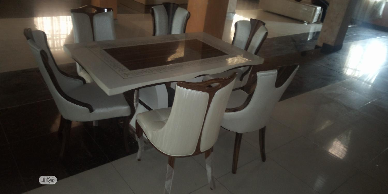 Italian Unique Marble Dining Table With 6 Chairs In Ojo Furniture Stuffzy Furniture Jiji Ng
