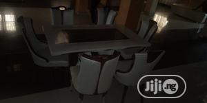 Italian Unique Marble Dining Table With 6 Chairs   Furniture for sale in Lagos State, Oshodi