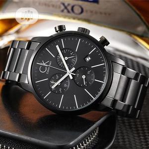 Calvin Klein Chronograph Black Chain Watch | Watches for sale in Lagos State, Lagos Island (Eko)