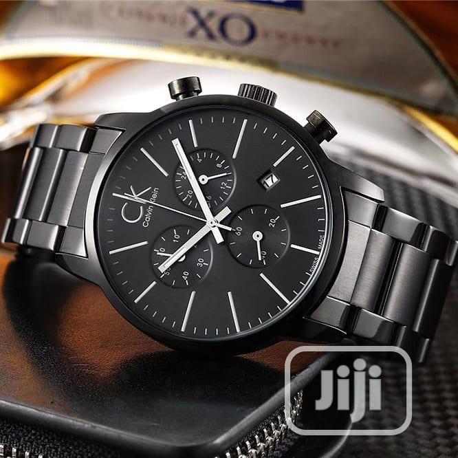 Calvin Klein Chronograph Black Chain Watch
