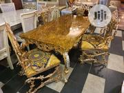 Gold Dining Set | Furniture for sale in Lagos State, Lekki Phase 1