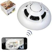 Wifi Smoke Detector Camera With Battery Backup | Security & Surveillance for sale in Lagos State, Ikeja