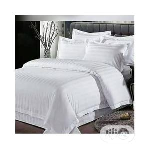 Quality White Duvet,Bedsheet With 4 Pillow Cases-6x6   Home Accessories for sale in Lagos State, Ikeja