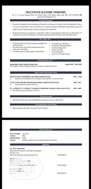 Office Secretary | Office CVs for sale in Oyo State, Akinyele
