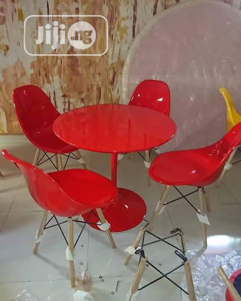 Impoted Round Dining Table Red By 4