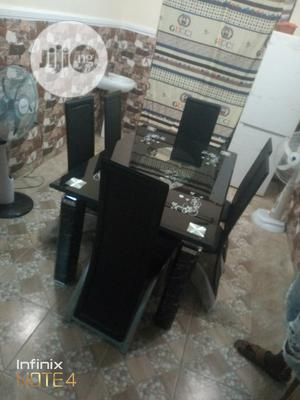 Strong Glass Dining Table With Six Chairs | Furniture for sale in Lagos State, Lagos Island (Eko)