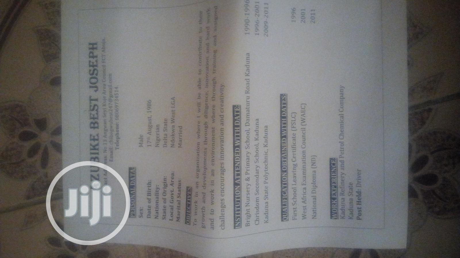 Drivers in Abuja | Driver CVs for sale in Dutse-Alhaji, Abuja (FCT) State, Nigeria