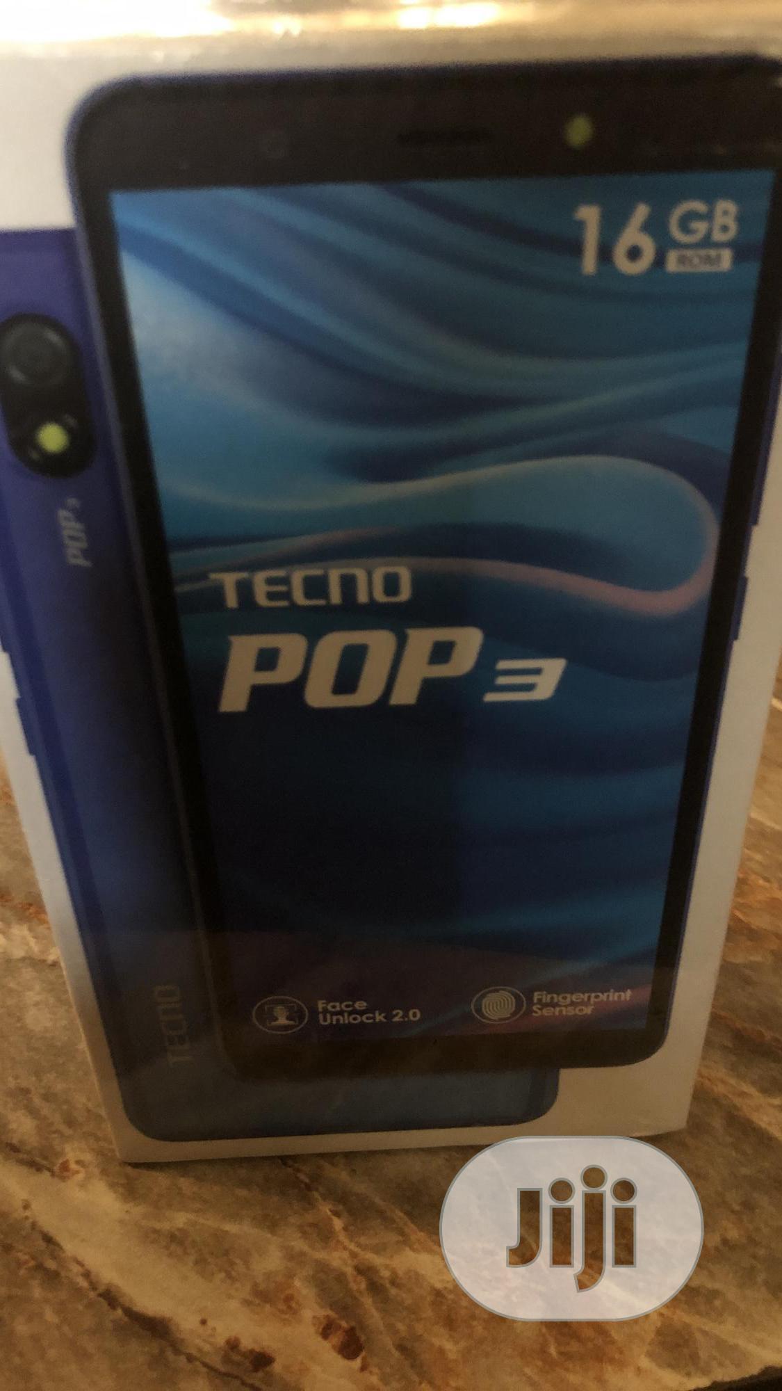 New Tecno Pop 3 16 GB Blue   Mobile Phones for sale in Benin City, Edo State, Nigeria