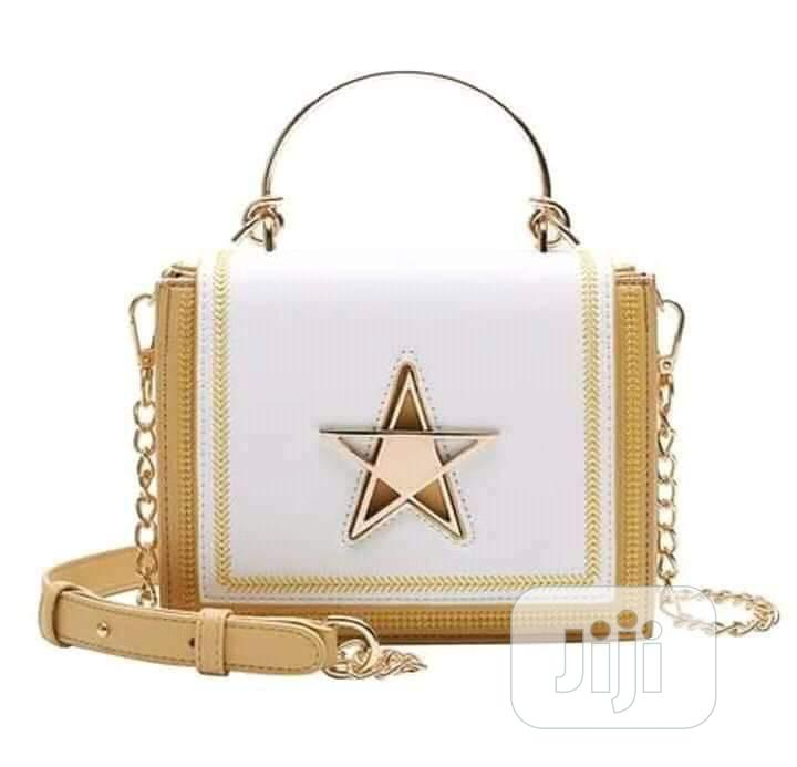 Archive: White and Gold Hand Bag