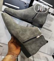 Quality Mens Suede Ankle Boot Ash Color | Shoes for sale in Lagos State, Lagos Island
