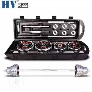50kg Dumbbell Barbell Set With Carrier Case | Sports Equipment for sale in Lagos State, Surulere