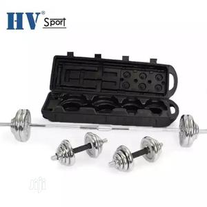 50kg Dumbbells Barbell Set Chrome Steel With Case | Sports Equipment for sale in Lagos State, Agege