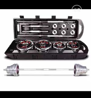 50kg Adjustable Dumbbells Barbell Set Chrome With Case | Sports Equipment for sale in Lagos State, Ikoyi