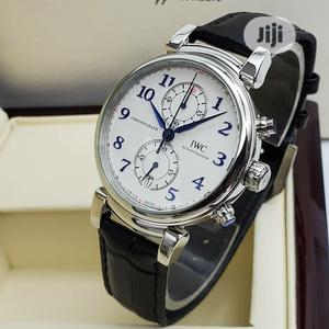 IWC Chronograph Silver Leather Strap Watch   Watches for sale in Lagos State, Lagos Island (Eko)