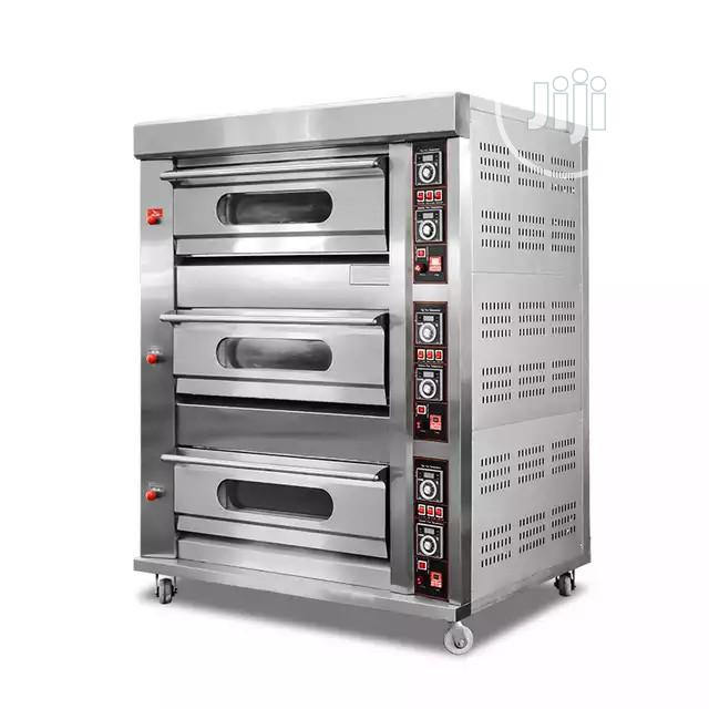 Bakery Equipment 3 Deck 6trays Gas Oven