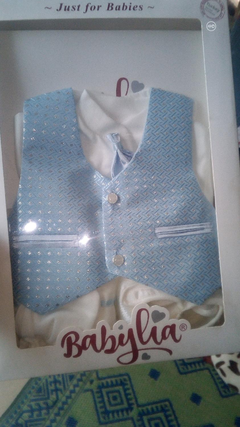 Babylia Baby Boy Christening Cloth | Children's Clothing for sale in Agege, Lagos State, Nigeria