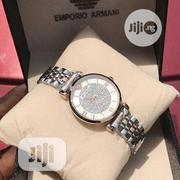 Emporio Armani Rose Gold/Silver Chain Watch for Women's | Watches for sale in Lagos State, Lagos Island