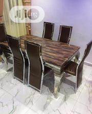 A Set Of Marble Dining With Big Foam Chairs | Furniture for sale in Lagos State, Amuwo-Odofin
