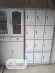 Metal Bookshelves And 12 Doors Lockers   Furniture for sale in Lagos State, Apapa