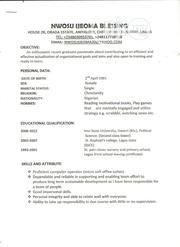 Customer Service CV   Customer Service CVs for sale in Lagos State, Ojo
