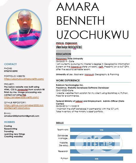 Computing & IT CV