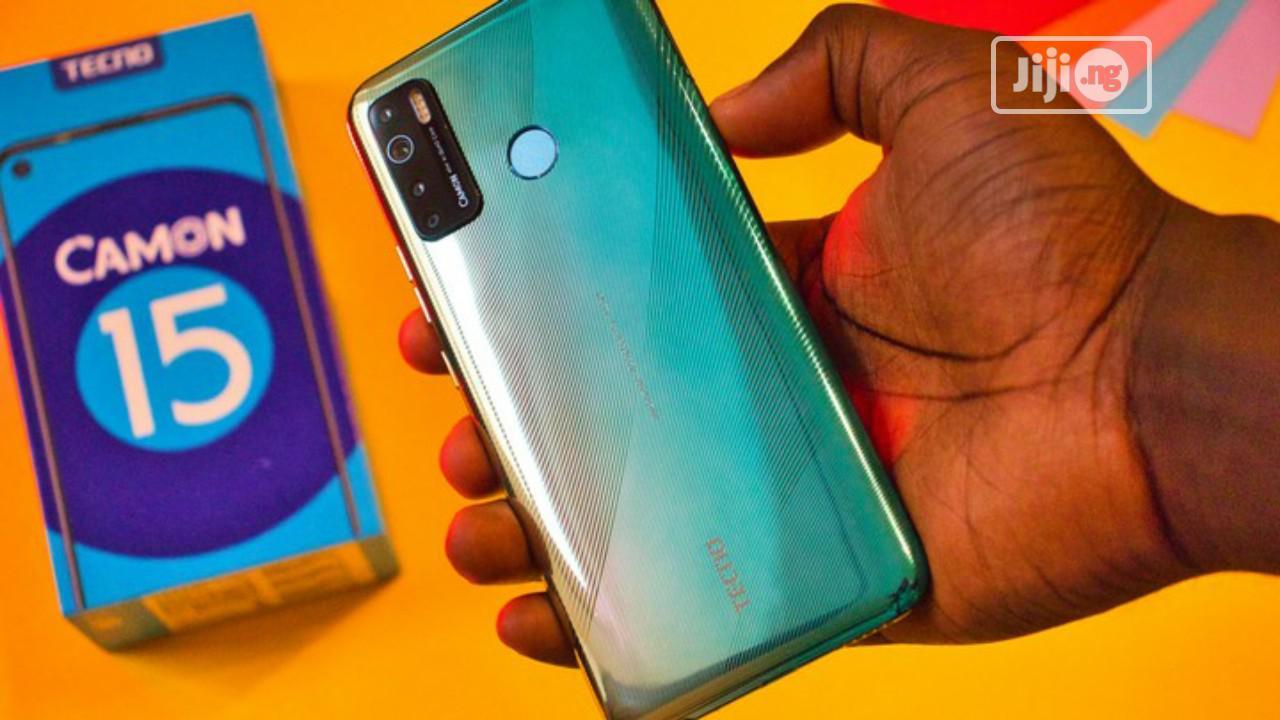 New Tecno Camon 15 64 GB Green | Mobile Phones for sale in Ikeja, Lagos State, Nigeria