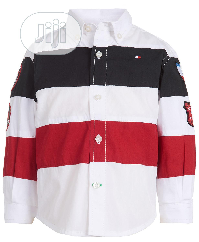 Tommy Hilfiger Boys Ski Striped Cotton Button-Down Shirt (18mths, 5yrs