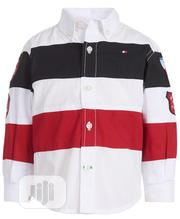Tommy Hilfiger Boys Ski Striped Cotton Button-Down Shirt (18mths, 5yrs   Children's Clothing for sale in Lagos State, Ikeja