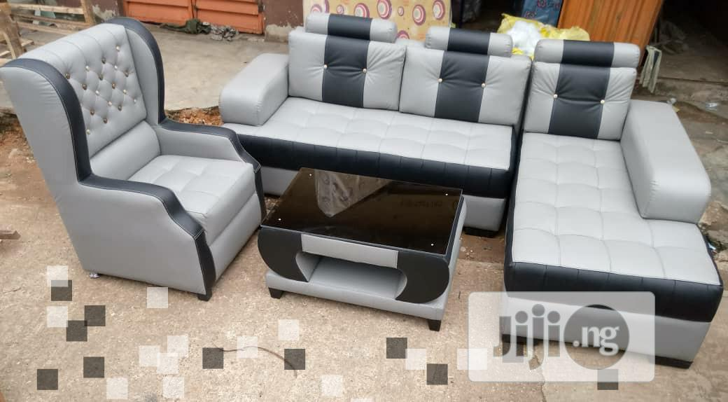 Neately Designed Sofa With Center Table