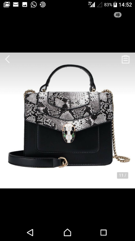 Black Snake Skinned Bag