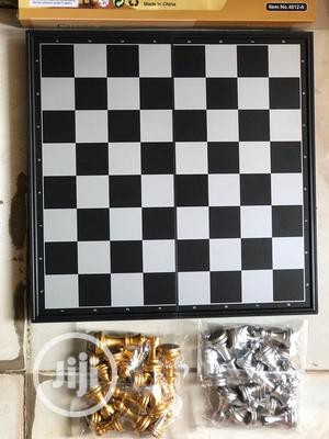 Silver And Gold Chess Board
