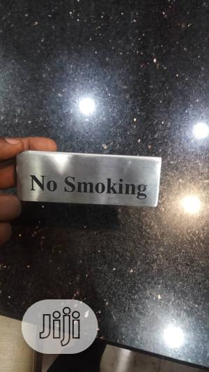 Stainless Steel No Smoking Sign   Home Accessories for sale in Lagos State, Ojo