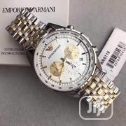 Emporio Armani Chronograph Gold/Silver Chain Watch | Watches for sale in Lagos State, Lagos Island