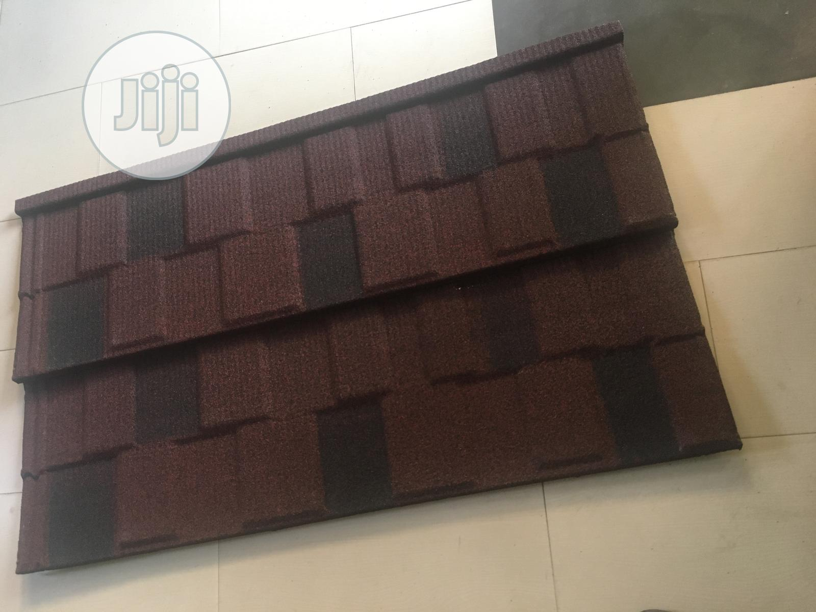 Pure Wine Shingle Stone Coated Roofing Sheet | Building Materials for sale in Akure, Ondo State, Nigeria