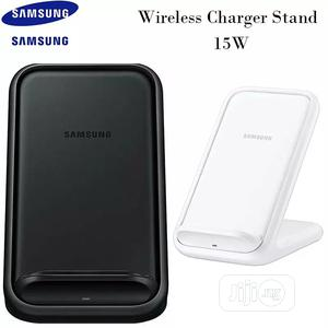 Original Samsung Fast QI Wireless Charger Stand15w | Accessories for Mobile Phones & Tablets for sale in Lagos State, Ikeja