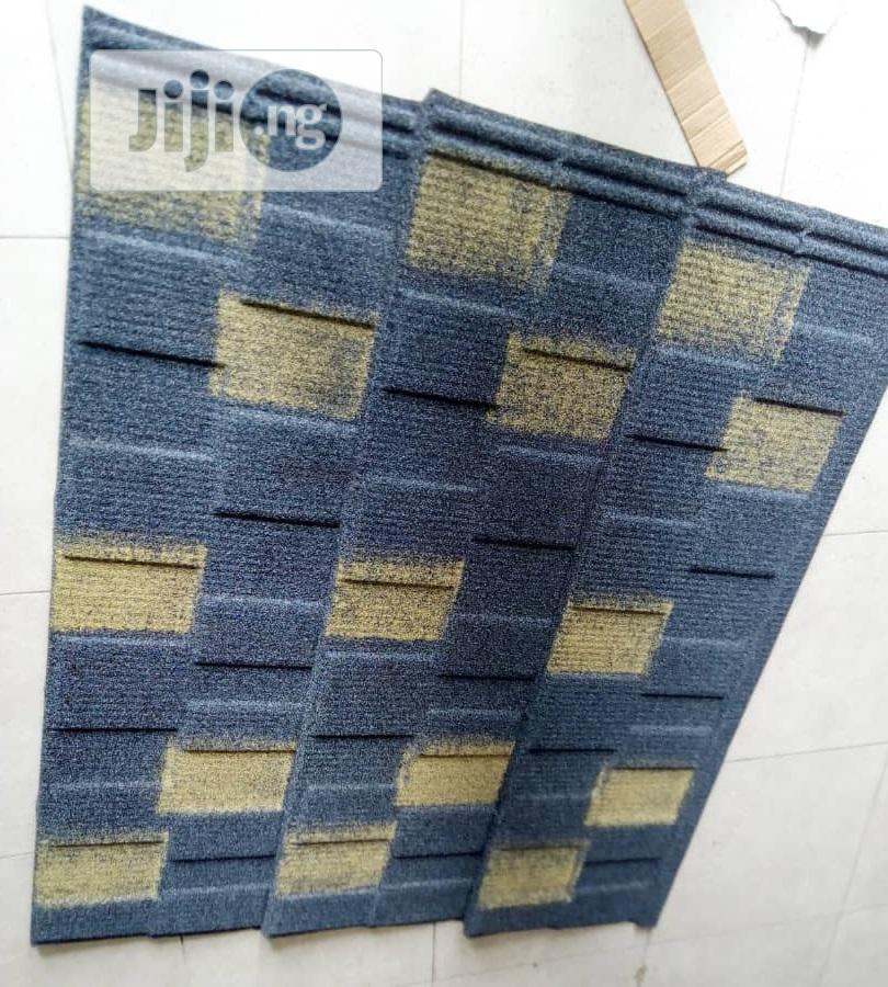 Blue And Yellow Shingle Docherich Stone Coated Roofing Sheet