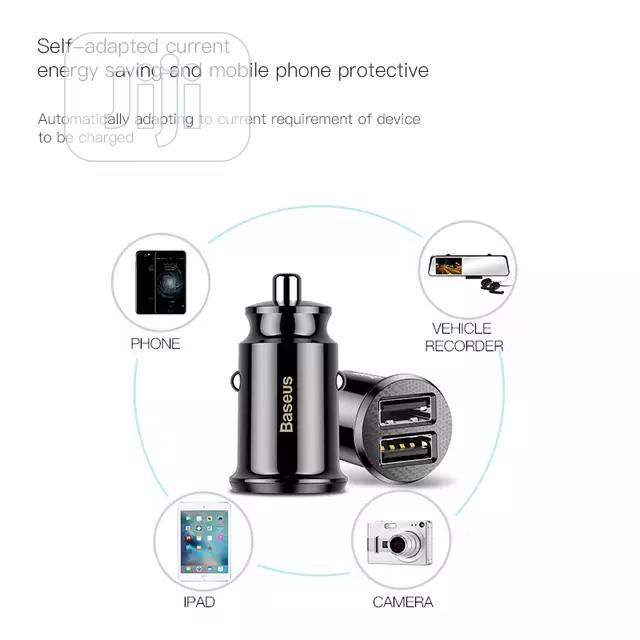 Baseus 3.1A Car Charger Mini Fast Charging In Car | Vehicle Parts & Accessories for sale in Ikeja, Lagos State, Nigeria