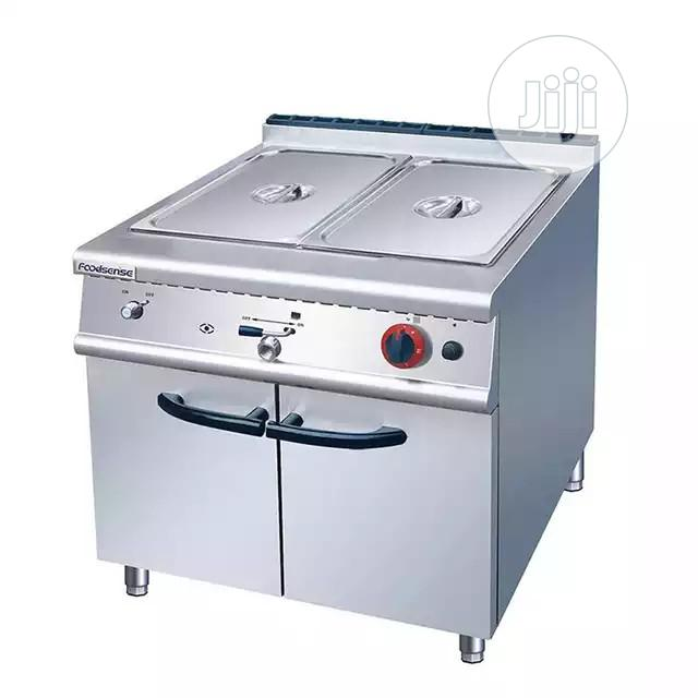 Commercial Free Standing Gas Bain Marie With Cabinet