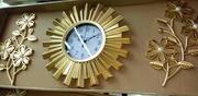 Golden Wall Clock With Decor | Home Accessories for sale in Lagos State, Lagos Island