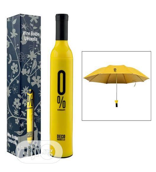 Wine Bottle Folding Umbrella