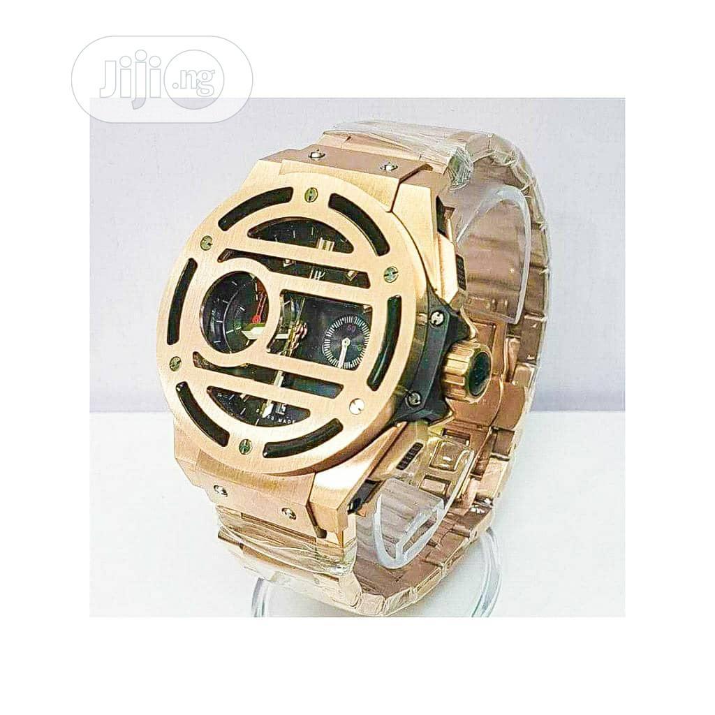 Hublot Chronograph Rose Gold Chain Watch