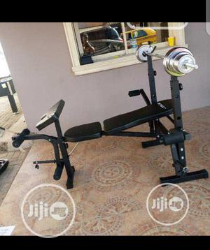 Weight Bench With 50kg Dumbbell | Sports Equipment for sale in Lagos State, Lekki