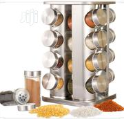 Quality Stainless Steel 20 Jar Revolving Spices Tower Holder Rack | Kitchen & Dining for sale in Lagos State, Lagos Island