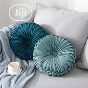 Velvet Pleated Round Pumpkin Throw Pillow | Home Accessories for sale in Lagos State, Lagos Island