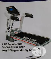 German Machine 6hp Treadmills With Massager | Sports Equipment for sale in Lagos State, Apapa