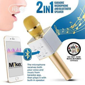 Rechargeable Karaoke Microphone And Bluetooth Speaker | Audio & Music Equipment for sale in Lagos State, Mushin