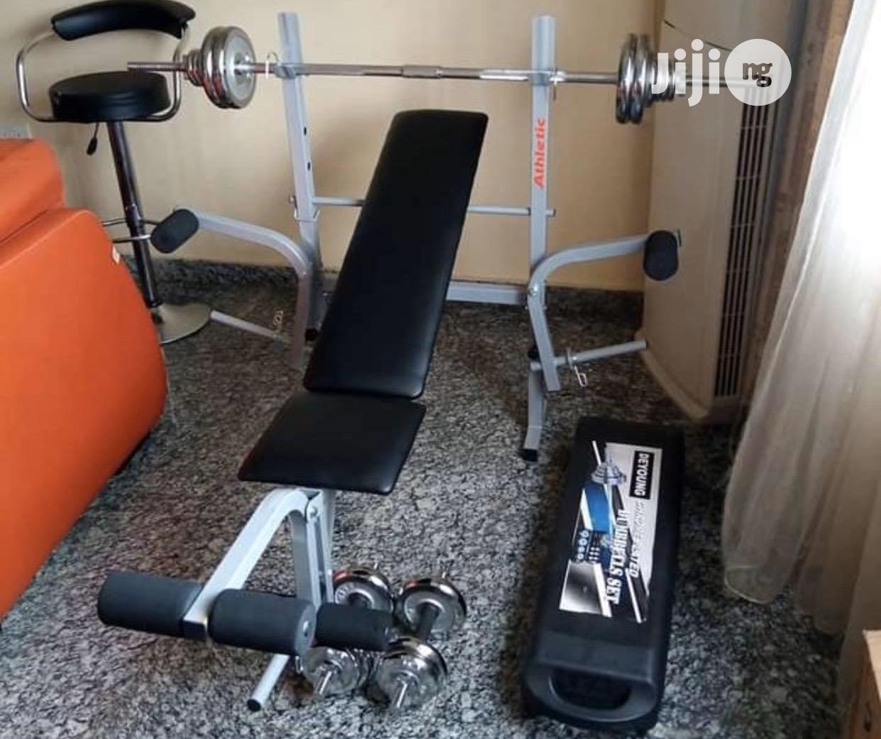 New Weight Bench With 50kg Barbell