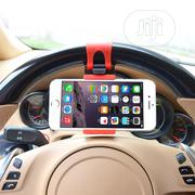 Universal Car Phone Steering Wheel Clip Mount Holder | Accessories for Mobile Phones & Tablets for sale in Lagos State, Ikoyi
